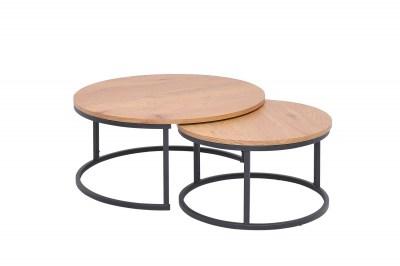 Set konferenčných stolíkov Kiana 2 ks vzor dub