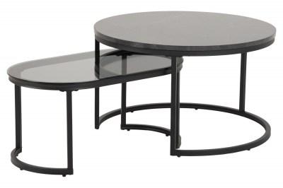 Set oválnych konferenčných stolíkov Gerald čierny