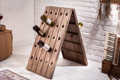 Stojan na fľaše Winebar 91 cm prírodný