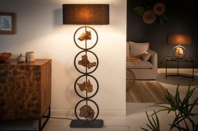 Stojanová lampa Factor 147 cm čierna - akácia