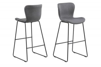 Štýlová barová stolička Alejo, tmavosivá
