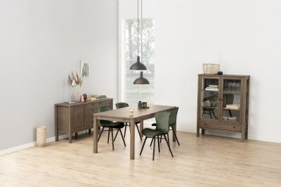 Štýlová jedálenská stolička Alejo, lesnícka zelená