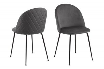 Štýlová jedálenská stolička Alexandre, tmavosivá