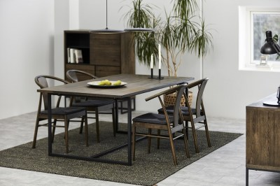Štýlová jedálenská stolička Alioth, tmavý dub
