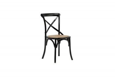 Štýlová jedálenská stolička Nikeesha, antická čierna
