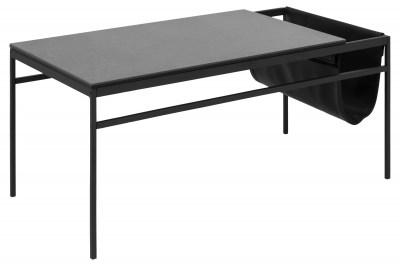 Štýlový konferenčný stolík Agustin, čierna