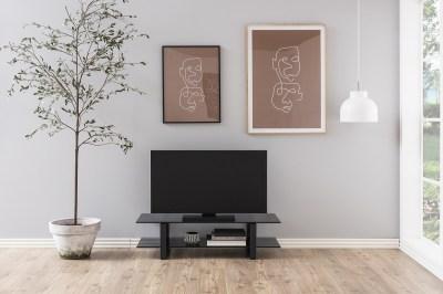 Štýlový TV stolík Akamu, čierna