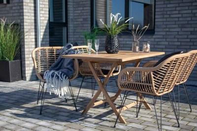 Záhradný stôl Mekhi teak