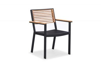 Záhradná jedálenská stolička HIGOLD - York Dining Arm Chair Black/Black