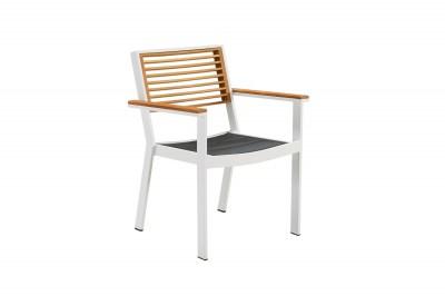 Záhradná jedálenská stolička HIGOLD - York Dining Arm Chair White/Black