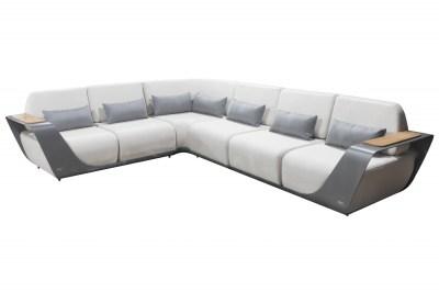 Záhradná rohová zostava HIGOLD - Onda Corner Lounge Sunbrella Grey/White Quick dry foam