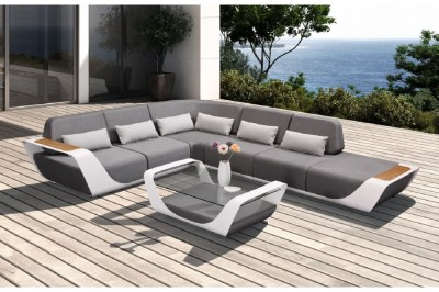 Záhradná rohová zostava HIGOLD - Onda Corner Lounge Sunbrella White/Grey Quick dry foam