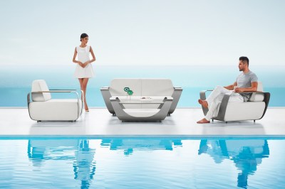 Záhradná zostava HIGOLD - Onda Lounge Sunbrella Grey/White Quick dry foam