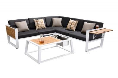 Záhradná zostava HIGOLD - York Corner Lounge White/Black Olefin